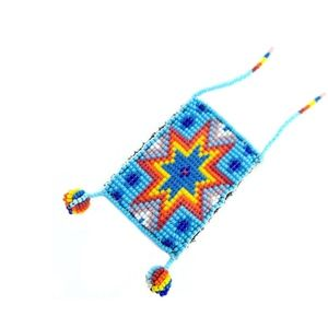 KALOSOMA + TRIBAL Beaded Pouch Necklace NWT